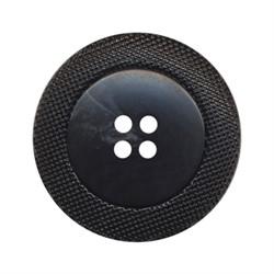Пуговицы пальтовые/шубные 25 мм черные  1 шт - фото 93452