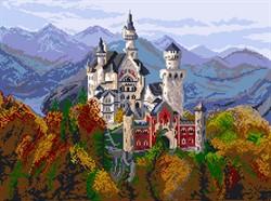 "Рисунок на канве ""Замок в Баварии"" 37 см х 49 см  ""Матренин Посад"" - фото 95083"