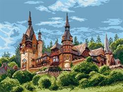 """Рисунок на канве """"Замок в Румынии"""" 37 см х 49 см  """"Матренин Посад""""  - фото 95085"""