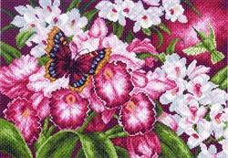 "Рисунок на канве  ""Орхидеи"" 37х49 см  ""Матренин Посад""  - фото 97695"