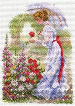 "Рисунок на канве  ""В цветущем саду""  37х49 см  ""Матренин Посад""  - фото 97715"