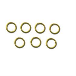 Кольцо для бус  5 мм ± 1 мм золото  (уп. 50 шт) - фото 97771
