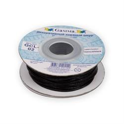 Шнур кожаный 'Gamma' 2 мм  черный 1 м - фото 97876