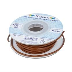 Шнур кожаный 'Gamma' 2 мм  светло-коричневый 1 м - фото 97877