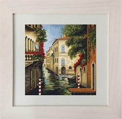 """Набор для вышивания """"Венеция в цветах"""" 28х28 см """"Luca-S"""" - фото 99633"""