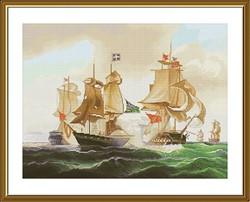 """Набор для вышивания """"Морской бой"""" 37х28 см """"Нова Слобода""""  - фото 99662"""