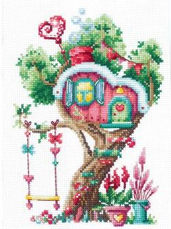"""Набор для вышивания """"Домики на дереве. Сладкий"""" 12х17,5 см 'Сделай Своими Руками'  - фото 99673"""