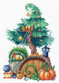 """Набор для вышивания """"Дома на деревьях. Щедрый"""" 12х17,5 см 'Сделай Своими Руками'  - фото 99675"""