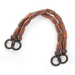 Ручки для сумок деревянные 50 см коричневые 1 пара  - фото 99767