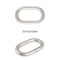Рамка овальная металлическая  33 х 16,5х3,8 мм  цвет никель 1 шт.