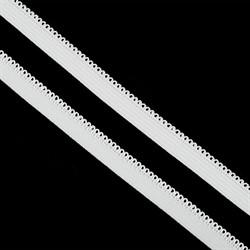 Резинка  бельевая ажурная 10 мм  цвет F101 (01) белый 1 м