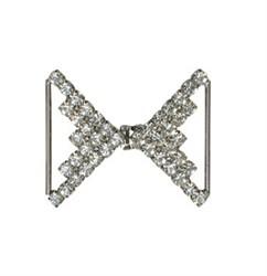 Застёжка для одежды металлическая со стразами  45х40 мм 1 шт