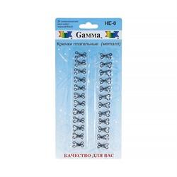 Крючки плательные №0 12 мм черные в блистере   24 шт.
