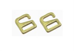 Крючок-фиксатор для обувного ремешка 15 мм x 12 мм d8 мм цвет золото 1 шт.