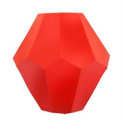 Бусины стеклянные биконус  4 х 4 мм цвет оранжевый 34 шт  на нити