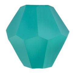 Бусины стеклянные биконус  4 х 4 мм цвет темно-голубой 34 шт  на нити