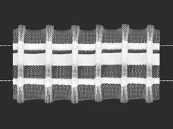 Лента шторная прозрачная 40 мм сборка: параллельная 1 м
