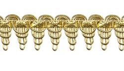 Тесьма  металлизированная 27 мм золото 1м