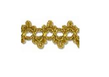 Тесьма  металлизированная 22 мм  золото 1 м