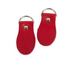 Петли для сумки красные (нат. кожа) 2 шт.
