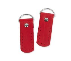 Петли для сумки 5,5 см  красные (натуральная кожа) 2 шт.