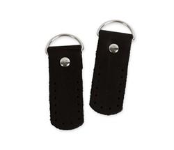 Петли для сумки 5,5 см черные (натуральная кожа) 2 шт.