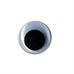 Глаза круглые с бегающими зрачками черно-белые d 40 мм 1 пара