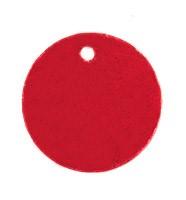 """Пайетки круглой формы со смещенным центром с эффектом """"металлик"""" 15 мм  красные 1 п"""