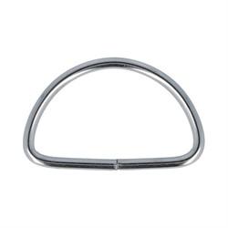 Полукольцо металлическое никель 30 мм  1 шт.