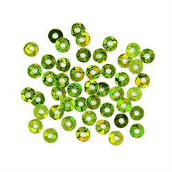 Пайетки плоские 'Астра' 3 мм цвет: светло-зеленый голограмма   1 уп.