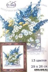 Набор для вышивания 'Синие цветы' 29*36 см 'РС-Студия'