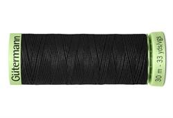 Нить Top Stitch отделочная, 30 м, 100% п/э,  цвет: 000 черный, 1 кат