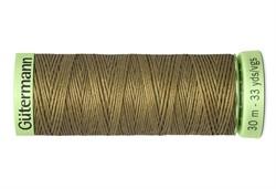 Нить Top Stitch отделочная, 30 м, 100% п/э, цвет: 528 защитно- оливковый, 1 кат.