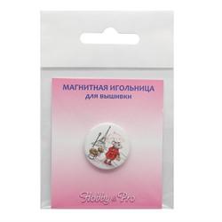 Магнитная игольница 'Мышка в Париже' 25*3 мм