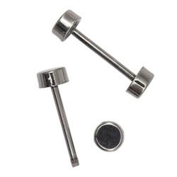 Шпилька для сумки металлическая L-30 мм/10 мм с 'таблеткой' цвет: черный никель 1компл.