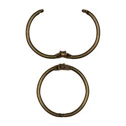 Разъемное кольцо 35 мм под античную бронзу 1 шт