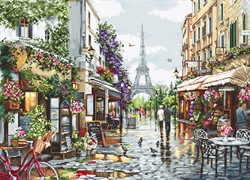 """Набор для вышивания """"Цветущий Париж"""" 47*34 см """"Luca-S"""""""