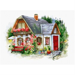 """Набор для вышивания """"Красивый загородный домик"""" 34*24 см """"Luca-S"""""""