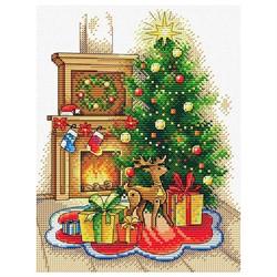 """Набор для вышивания 'Рождественский вечер"""" 10*13 см """"М. П. Студия"""""""