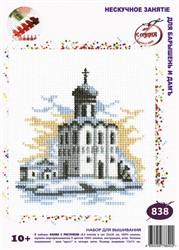 """Набор для вышивания c растворимым рисунком на канве 'Зимняя церковь' 14*12 см """"РС-Студия"""""""