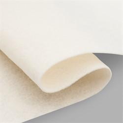 Фетр мягкий листовой Астра, 2 мм, 260 гр, 20х30 см, цвет молочный 1 лист