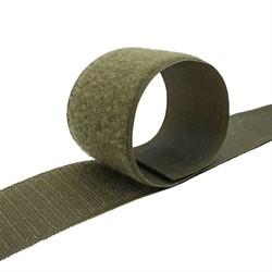 Лента контактная (липучка) 5 см цвет хаки  0,5 м