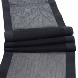 Ткань эластичная бельевая черная 16 см 1 м