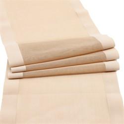 Ткань эластичная бельевая 16 см цвет: бежевый 1 м