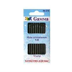 Иглы для шитья ручные 'Gamma'  для штопки  1 уп.