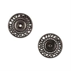 Кнопка пришивная металлическая d 21 мм под черный никель 1 шт.