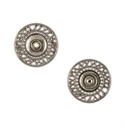 Кнопка пришивная металлическая d 21 мм под  никель 1 шт.