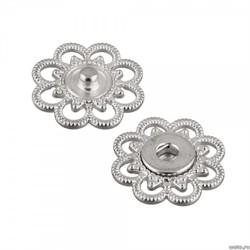 Кнопки пришивные металлические 'Gamma'  d 21 мм никель 1 компл.
