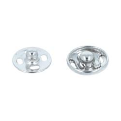 Кнопки пришивные металлические никель d 12 мм  1 шт.