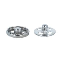Кнопки пришивные  металлические никель  d 8.2 мм  10 шт.